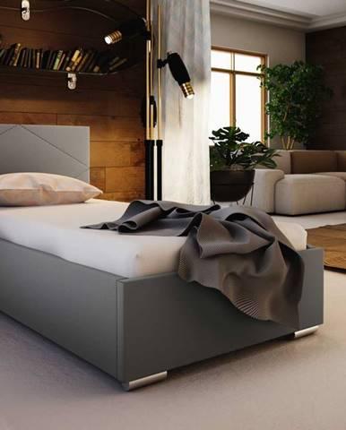 Čalouněná postel SOFIE 5 90x200 cm, béžová látka