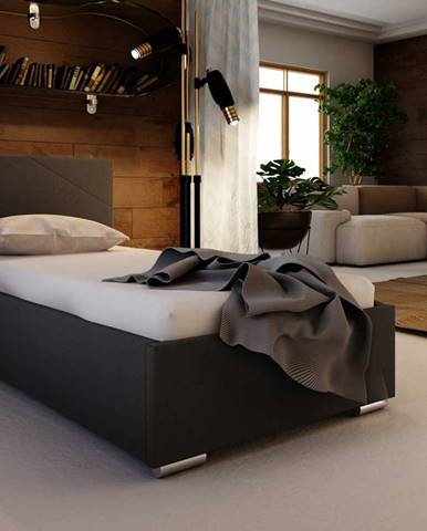 Čalouněná postel SOFIE 5 90x200 cm, černá látka
