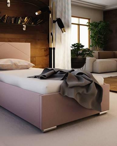 Čalouněná postel SOFIE 5 90x200 cm, růžová látka