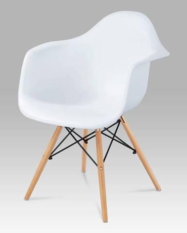 Jídelní židle CT-719 WT1, plast bílý / natural