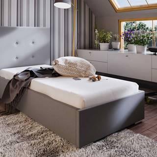 Čalouněná postel SOFIE 1 90x200 cm, béžová látka