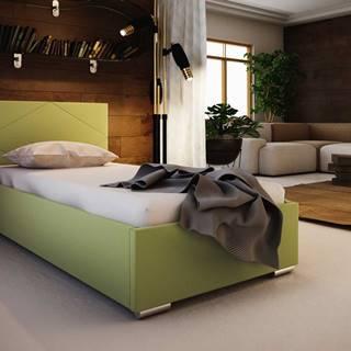 Čalouněná postel SOFIE 5 80X200 cm, zelená látka