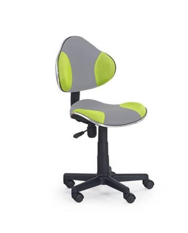 Dětská židle FLASH-2, šedá/zelená