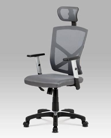Kancelářská židle KA-H104 GREY, šedá