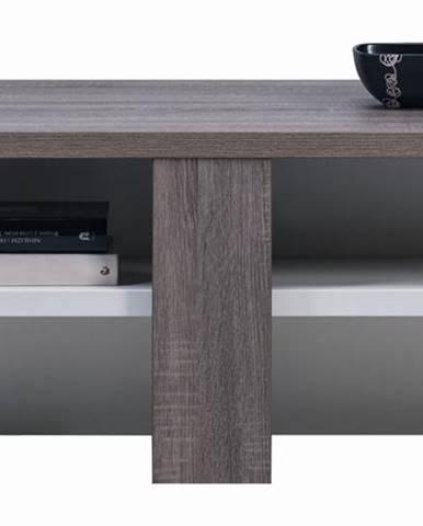 LI 16 - Konferenční stolek LIONEL LI 16, dub sonoma truflový/bílý lesk