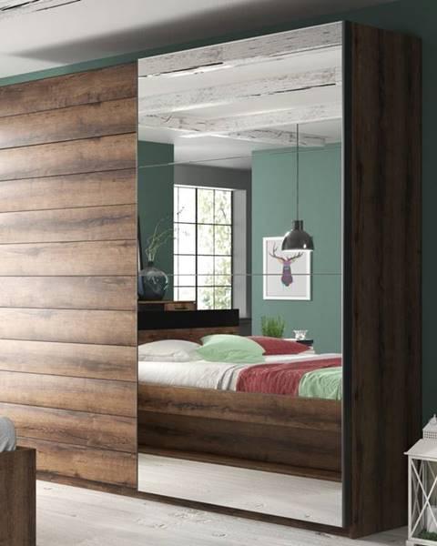 Smartshop BETA šatní skříň se zrcadlem 200 TYP 77, dub monastery