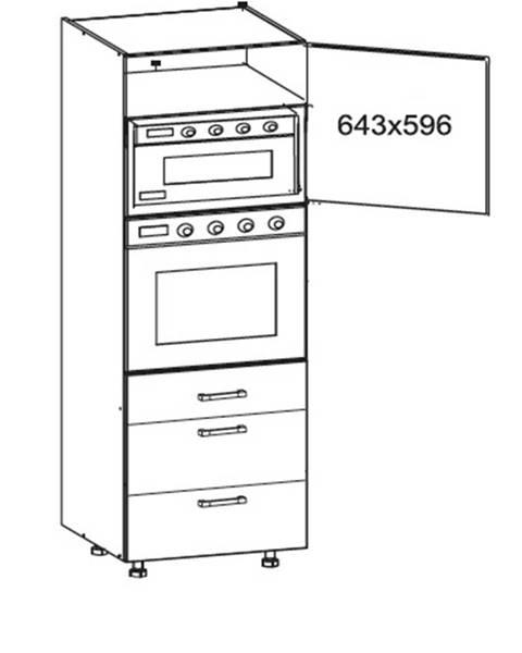 Smartshop IRIS vysoká skříň DPS60/207 SAMBOX pravá, korpus wenge, dvířka ferro