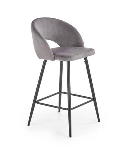Barová židle H-96, šedá