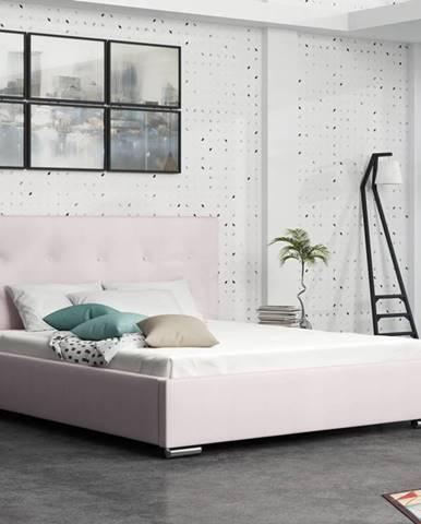 Čalouněná postel SOFIE 1 180x200 cm, růžová látka