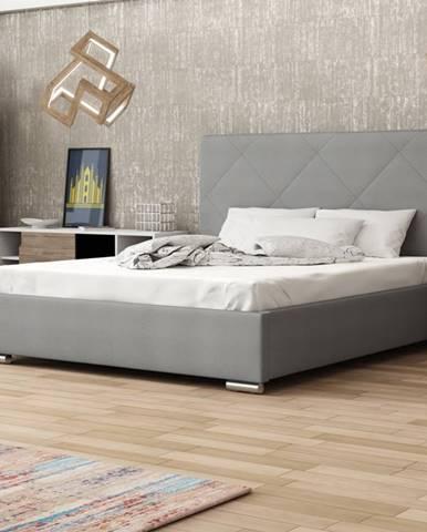 Čalouněná postel SOFIE 5 160x200 cm, šedá látka