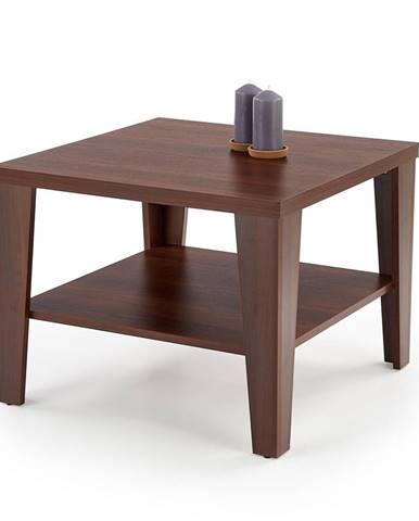 Čtvercový konferenční stolek MANTA KWADRAT, ořech tmavý