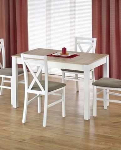 Jídelní stůl rozkládací MAURYCY, dub sonoma/bílá