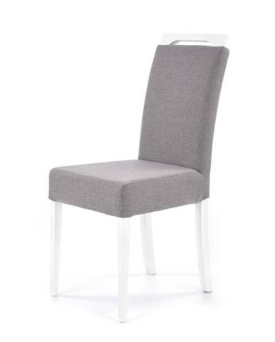 Jídelní židle CLARION, světle šedá/bílá