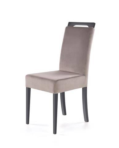 Jídelní židle CLARION, světle šedá/grafit