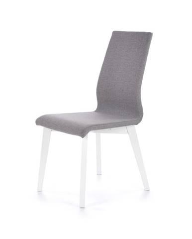Jídelní židle FOCUS, světle šedá/bílá