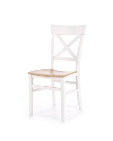 Jídelní židle TUTTI, bílá/dub medový
