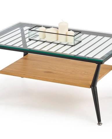 Konferenční stolek FELINA, dub zlatý/černá