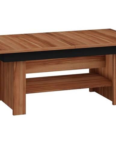 Konferenční stolek MEXICO rozkládací LESK, barva: švestka wallis/černý lesk