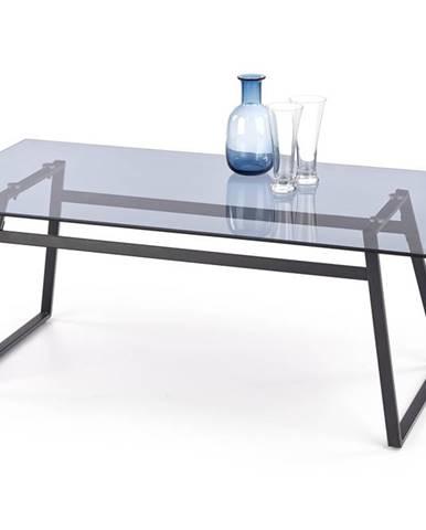 Konferenční stolek NEBULA, kouřové sklo/černá