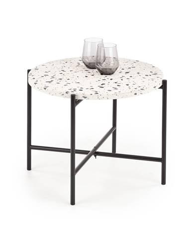 Odkládací stolek LASTRICO, terrazzo/černá