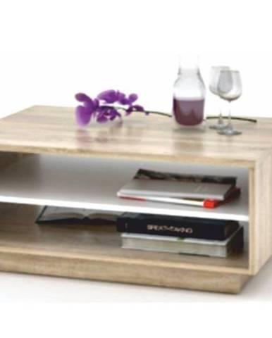 VAVRO konferenční stolek, dub sonoma/bílá