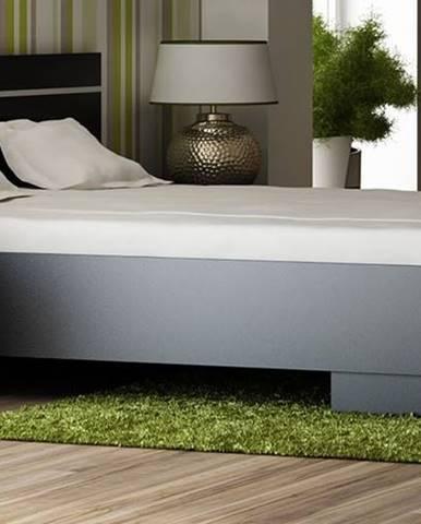 VISTA postel 160x200 cm s roštem, černá