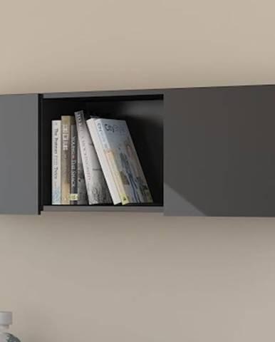 Závěsná skříňka UNO, černá/černý lesk
