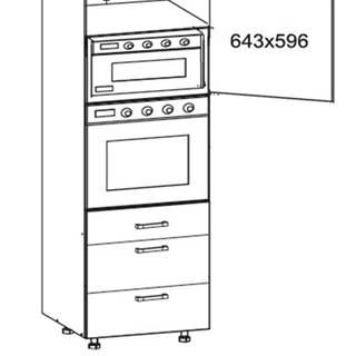 IRIS vysoká skříň DPS60/207 SAMBOX pravá, korpus wenge, dvířka ferro