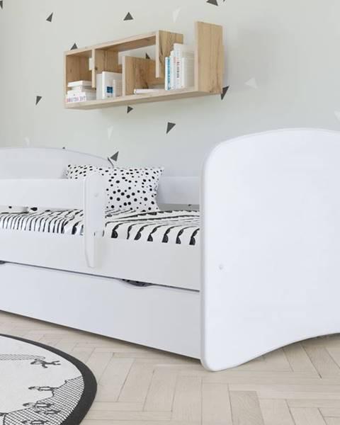 Smartshop Dětská postel bez vzoru BABYDREAMS 80x180 cm, bílá - bed without mattress bez wzoru
