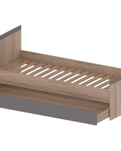 Bog Fran MG 4 - MADAGASKAR postel 90 x 200 univerzální, dub sonoma/grafit