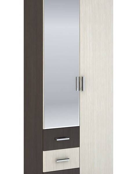 Smartshop Šatní skříň 2-dveřová ROCHEL 45 cm belfort/wenge