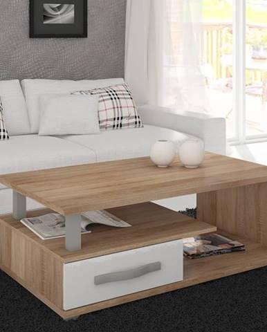 ANGEL ANG-07 konferenční stolek, dub sonoma/bílý lesk