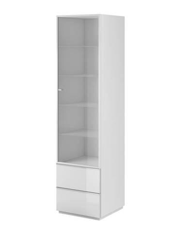 HELIO TYP 05 vitrína 1D2S, bílá/bílá sklo