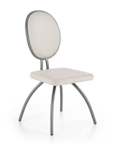 Jídelní židle K-297, světle šedá