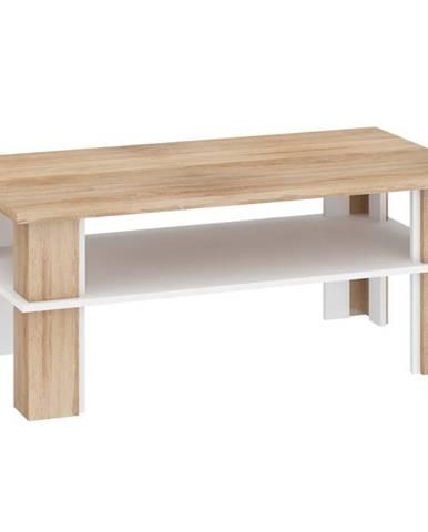 Konferenční stolek FUTURA 2, dub sonoma/bílá