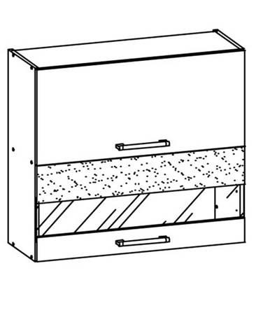 MODENA, horní vitrína G80W, buk