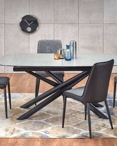 Rozkládací jídelní stůl CAPELLO, tmavě šedá/černá