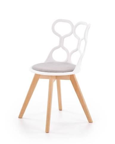 Židle K-308, bílo-šedá