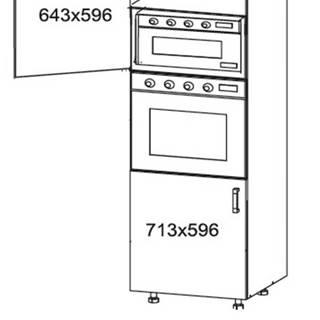 EDAN vysoká skříň DPS60/207, korpus congo, dvířka béžová písková