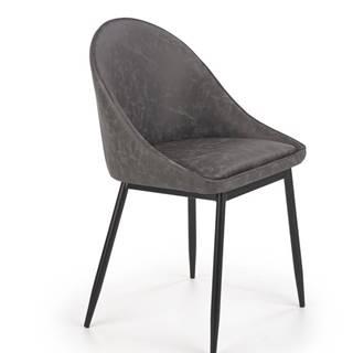 Jídelní židle K-406, tmavě šedá