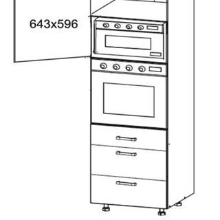 OLDER vysoká skříň DPS60/207 SMARTBOX, korpus bílá alpská, dvířka trufla mat