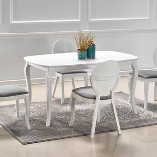 Rozkládací jídelní stůl FARABA, bílá