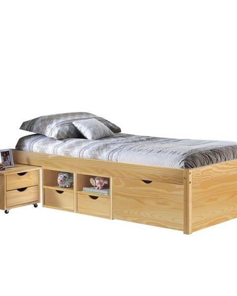Smarshop Multifunkční postel CLAAS 90x200 cm vč.roštu, masiv borovice