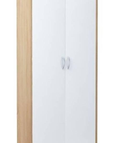 Smartshop Šatní skříň VIKA 2D dub sonoma/bílá