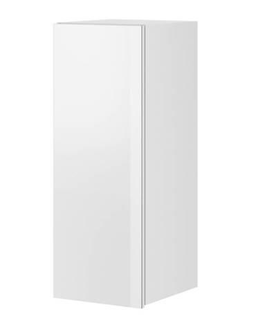 HELIO TYP 08 závěsná skříňka 1D, bílá/bílá sklo