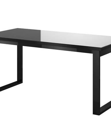 HELIO TYP 92 rozkládací stůl, černá/černé sklo