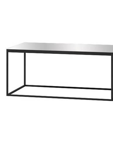 HELIO TYP 99 konferenční stolek, černá/šedé sklo