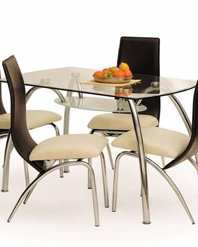 Jídelní stůl CORWIN BIS, kov/sklo