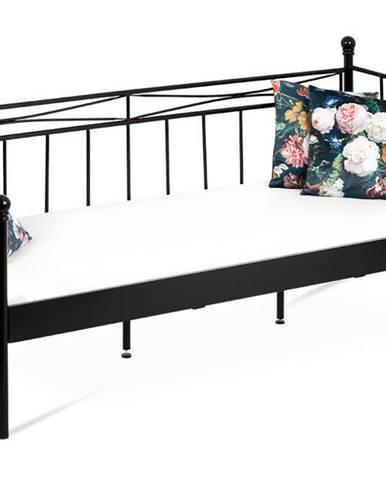 Kovová jednolůžková postel 90x200 BED-1905 BK, černá