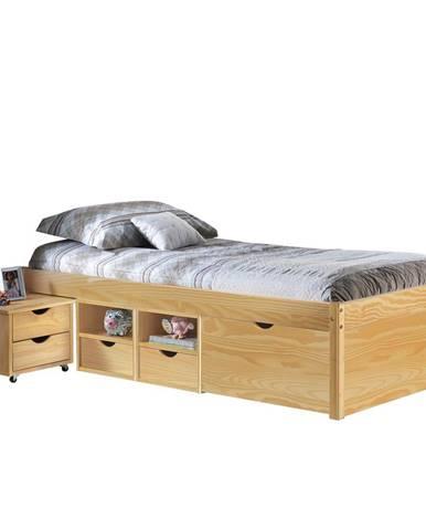 Multifunkční postel CLAAS 90x200 cm vč.roštu, masiv borovice